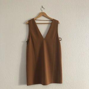 Brown Tobi mini dress open back and sides